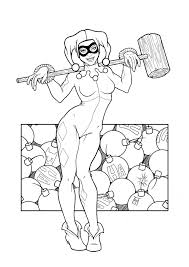 Small Picture Harley quinn coloring pages to download and print for free