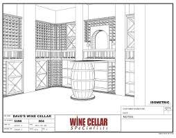 custom wine cellars chicago design drawing barrel dave barrel wine cellar designs