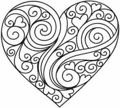 Small Picture Heart Coloring Page Could Be A Nice Quilling Pattern Too Make 8499