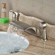 nice roman bathtub faucet aliexpress com luxury deck mount waterfall widepsread tub single handle 3pcs