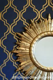 Blue And Gold Design My Favorite Room Dimples And Tangles Gold Bedroom