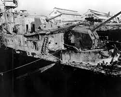 u s department of defense photo essay  a u s navy ship sits burned out and damaged in drydock one following the ese air