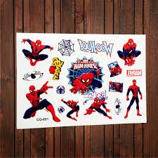 купить 3д человек паук временная татуировка наклейка дети