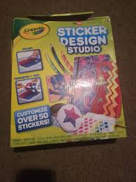 Sticker Design Studio Crayola Crayola Sticker Design Studio Sticker Maker Gift For Kids Ages 8 9