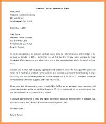 Letter To Terminate Contract With Supplier Download Business Contract Termination Letter Template