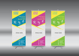 tamplate roll up banner free vector art 12909 free downloads