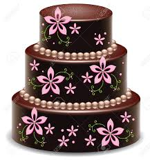 Vector Design Of A Big Delicious Chocolate Cake Royalty Free