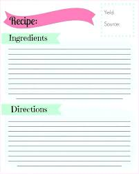 printable blank recipe cards blank recipe cards elegant blank recipe card template for word 5 x 8