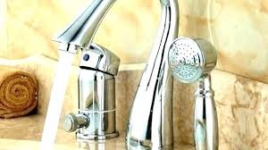 sprayer attachment for bathtub faucet with tub wall mount