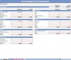 Budgeting For An Event Event Budget Spreadsheet Event Budgeting Event Budgets