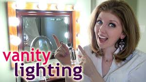 Best lighting for makeup vanity Vanity Table Youtube My Vanity Lighting How To Apply Makeup At Night Youtube