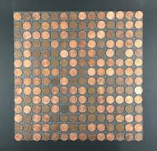 Image is loading Tile-Sheets-of-US-Copper-Pennies-Penny-Tiles-