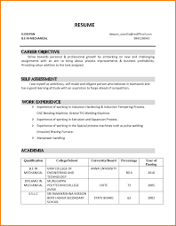 Objectives For Resumes Examples Of Career On Internship Samples