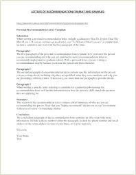 Layout Of A Recommendation Letter Best Personal Recommendation Letter Template