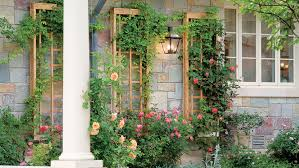 an elegant wall attached trellis panel
