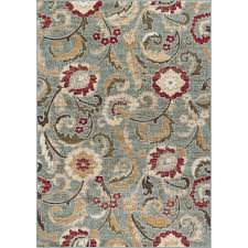 lgn5056 8x10 8 x 10 large blue red and beige area rug laa