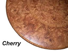 table cloth round 36 to 48 elastic edge fitted vinyl table cover cherry wood pattern brown tan
