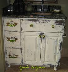 Distressed Bathroom Cabinet Painting Distressing A New Bath Cabinet To Match An Old Bedroom