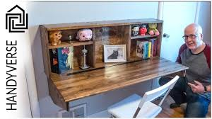 Fold down wall desk Bed Build This Wall Mounted Fold Down Desk Ep 025 Zoradamusclarividencia Save Space Build This Wall Mounted Fold Down Desk Ep 025 Youtube