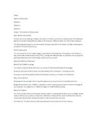 Sample Cobra Termination Letter Related Post Grievance Letter Template For Unpaid Wages Of