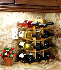 Kitchen Cabinet Wine Racks White Bolt Console Table With Removable Wine Rack Curved Corner