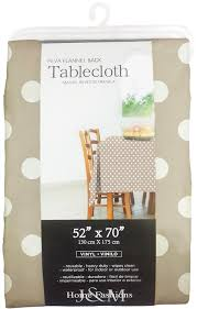 Amazon J & M Home Fashions Polka Dot Vinyl Tablecloth 60