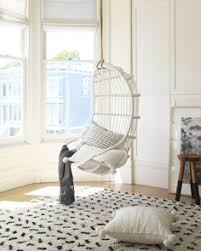 serena lily hanging rattan chair in white