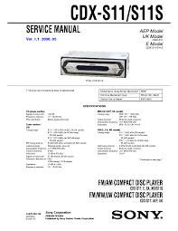 sony xr ca360 ca360x ver1 2 service manual sony