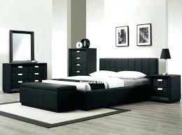 bedroom furniture black gloss. Modern Walnut Bedroom And Black Gloss Furniture Set Leather Bed White Inside