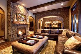 Image of: Country Rustic Living Room Ideas