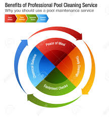 An Image Of Benefits Of Professional Pool Cleaning Service Chart