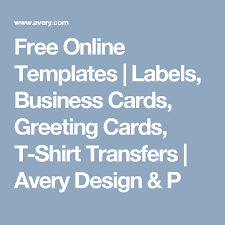 Avery Greeting Cards Free Online Templates Labels Business Cards Greeting