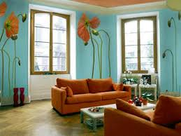 Orange Wall Paint Living Room Living Room Wall Color Ideas Orange Armless Chairs Cushion Brown