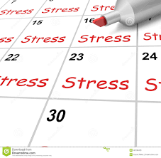 stress calendar means pressure strain and stock illustration royalty stock photo