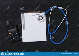 Medical Insurance Cost Calculation Stock Photo Image Of