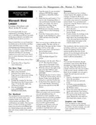 Ms Word Lesson Plans Microsoft Word Lesson Plans Worksheets Reviewed By Teachers