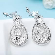 big chandelier diamond earrings