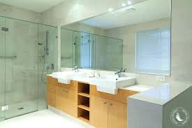 how to hang a frameless mirror glamorous how to hang a bathroom mirror install mirror marvelous