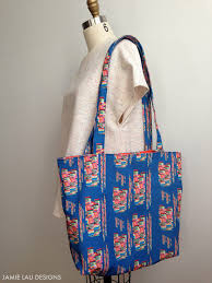 Tote Bag Designs Patterns Free Lined Tote Bag Sewing Pattern Scale