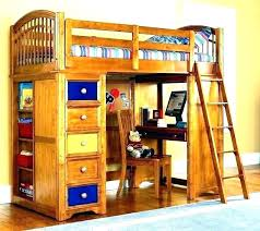 bunk bed with desk and dresser wood loft combination be
