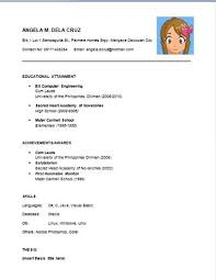 Simple Sample Resume Basic Resume Samples Resume Sample