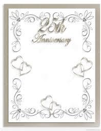 Template Anniversary Card Free Silver Wedding Anniversary Invitations Templates