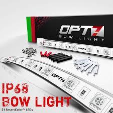 Bass Boat Led Light Kit Opt7 Boat Bow Navigation Light Kit 1 Mile Visibility