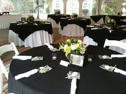 round black tablecloths