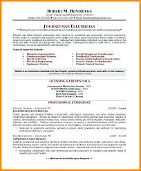 Sample Journeyman Electrician Resumes Foreman Journeyman Electrician Resume Sample Letsdeliver Co