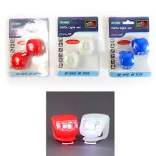 2Pc Ultra Bright Waterproof <b>Silicone Led Bike</b> Light Led Front Rear ...
