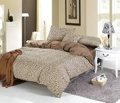 100 cotton fashionable leopard print duvet cover set double king size bedding sets