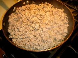 cooked ground turkey. Wonderful Cooked Cooked Turkey Mixture With Ground H