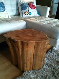 wooden stump side table tree canada