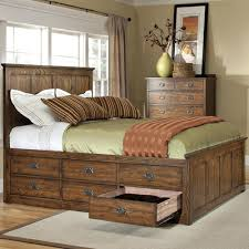 queen beds with drawers.  Drawers Intercon Oak Park Mission Queen Bed With Twelve Underbed Storage Drawers On Beds With